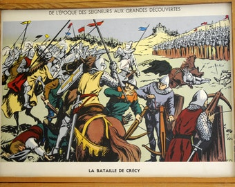 Original Vintage French School double-sided poster Christopher Colombus
