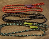 Custom dog leashes made from utility rope and 550 paracord