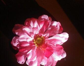 Pink, Hot Pink Flower Hair Clip