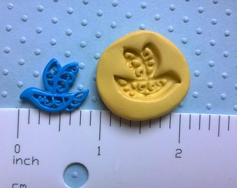 LACE DOVE mold flexible mold food safe for fondant resin polymer clay push mold for sculpey fimo