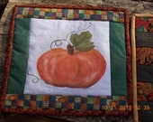 mug rug / snack mat for fall, halloween, thanksgiving