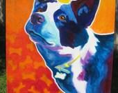 Heeler, Australian Cattle Dog, Art, Dog Art, DawgArt, Heeler Art, Australian Cattle Dog Art, Aussie Art, Aussie Painting, Original Painting