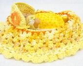 hand crocheted cradle purse itty bitty baby doll birthday BG#52