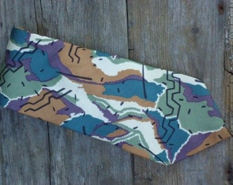 Abstract 80's Designer Necktie