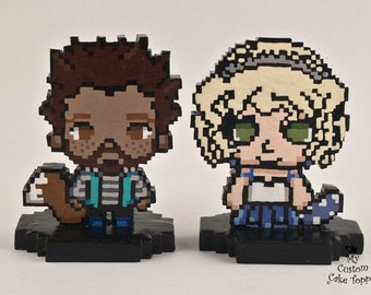 8-Bit Pixel Wedding Cake Topper