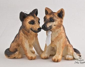 German Shepherd Dog Wedding Cake Topper