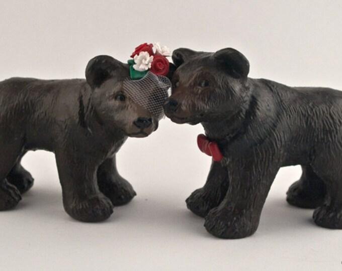 Bear Love Custom Wedding Cake Topper