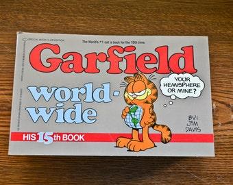Garfield Comic Books, Illustrated Humor Books, Set of Eight