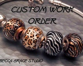 Reserved for Sera - Custom Big Hole Beads - 2 Custom Character inspired Beads - Handmade SRA