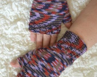 Fingerless gloves,hand-knitted fingerless women's gloves, handmade arm warmers, wool fingerless gloves