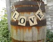 Shabby Chic Wedding decorations / Damask LOVE Wedding Garland  / Bridal Shower Decor / Reception Decor / Home Decor/You Pick the Colors