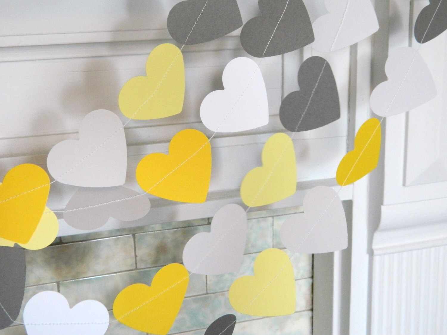 Love is Sweet Banner / Yellow and Gray Wedding Decor / Candy buffet ...