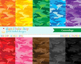 camouflage digital papers camo - Camouflage Digital Papers