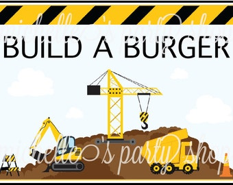 NEW -- TABLE SIGN, Construction, 5x7