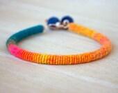 Copper-Fiber-Bead - Yarn Bracelet