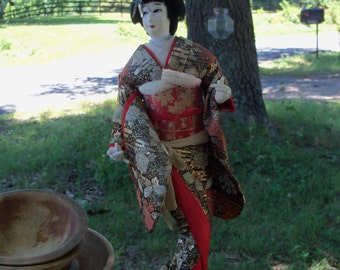 Nishi Geisha Doll Mid Century Japan Figural Art Sculpture Wonderful Example Estate Find by AntiquesandVaria