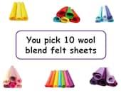 Felt squares craft fabric wool blend bundle of felt arts and crafts 12inch felt square