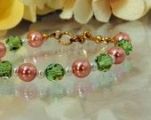 Pink Rose Garden Bracelet