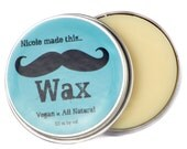 Mustache Wax - All Natural, Vegan, and Paraben-Free!  Blended Fresh to Order… just for you!