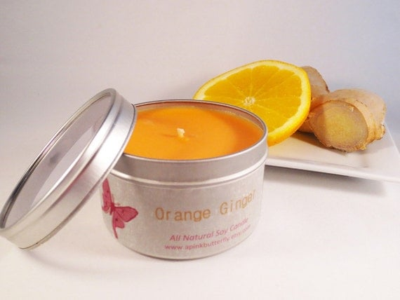 Orange Ginger Soy Candle - 8 oz. tin