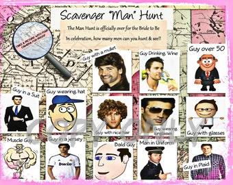 Bachelorette Game-Scavenger Hunt (The Man Hunt)