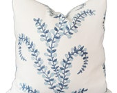 John Robshaw for Duralee Prasana in Bluebell Decorative Pillow Cover Square, lumbar or Euro pillow cover, accent pillow throw pillow