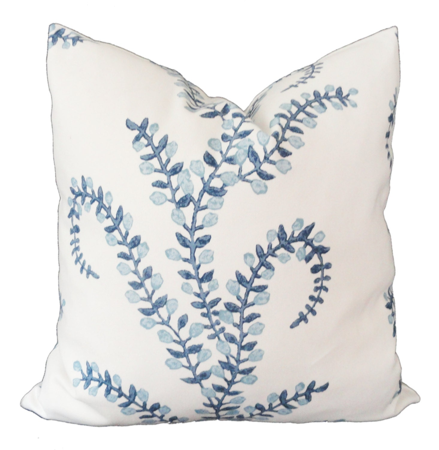 Decorative Pillows Robshaw : Prasana in Bluebell Decorative Pillow Cover Square lumbar or