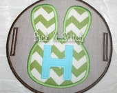 Easter Bunny ITH Pillow Charm Applique Design Machine Embroidery Design INSTANT DOWNLOAD