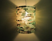 Lighting Hanging Chandelier Green Lamp Lampshade Hanging Ceiling Light Coffee Filter Lampada Green Living Lampshade