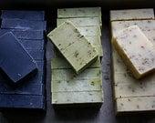 3 soap loaves - fennel clove - grapefruit rosemary - lemon lavender