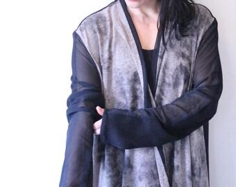 Black & Stone Asymetrical Cardigan