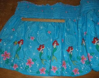 06445 -  Springs - Disney Ariel Ms Mermaid Sea Spark smocked Cotton - 1 yard