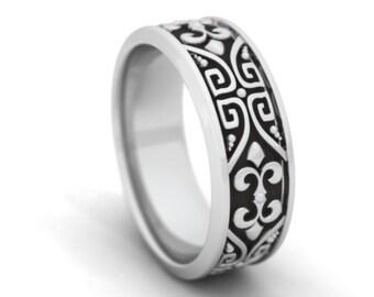 Greek style ring in sterling silver