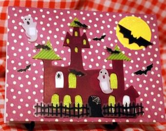 Haunted House Halloween Card  20130094