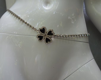 YSL Yves Saint Laurent 60s/70s Couture Enamel and Rhinestone Necklace/Belt