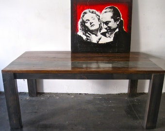 Modern Minimal Reclaimed Wood Dining Table.Made in Los Angeles.