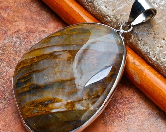 Natural Tiger's Eye pendant (J226)