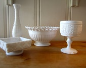 An Instant Collection of Vintage Milk Glass