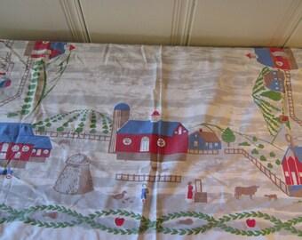 A Vintage Pennsylvania Dutch Cutter Tablecloth