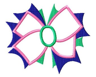 Mandy Bow - Applique - Machine Embroidery Design - 11 Sizes