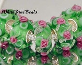 Murano Lampwork Glass Bead For European Charm Bracelets Eruo Style Beads WhitePineBeads
