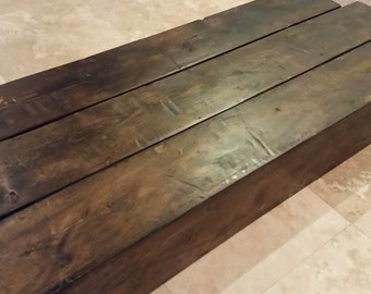 "Floating Mantel beam  -  rustic 72""  x@ 8"" deep  ready to ship"