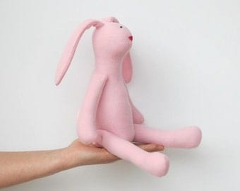 Stuffed bunny doll cute soft Easter bunny rabbit hare softie plush bunny spring summer pink rabbit toy gift for baby shower