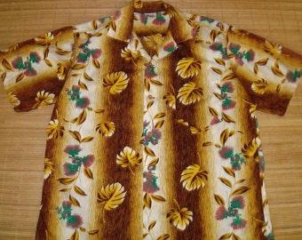 Mens Vintage 50s Crisp Cotton Hawaiian Surf Aloha Shirt - XL -  The Hana Shirt Co