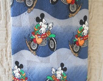 SALE: Vintage MICKEY MOUSE Motorcycle Tie. Silk. Men's Gift, Groomsmen Gift, Father's Day. Disney