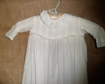 Pristine Victorian Christening Gown Antique Late 1800's  No Flaws Newborn Baby