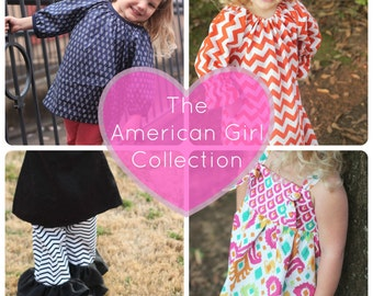 PDF Pattern Bundle- The American Girl Collection- 4 Patterns included