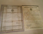 WWI Discharge Papers Canada American Soliders