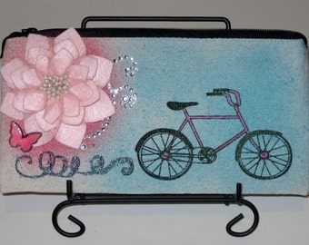 Sweet Summer Ride Canvas Pouch 8in x 4in