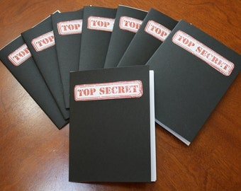 Lot of 10 TOP SECRET Spy Notebook's - Spy Party Favors
